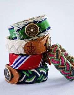 Nautical by mae...love these bracelets