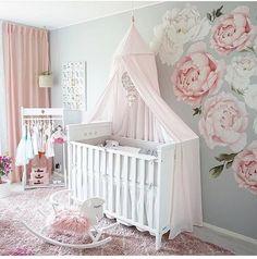 36 Ideas Baby Girl Princess Nursery For 2019 Baby Girl Nursery Themes, Baby Room Decor, Princess Nursery Theme, Nursery Decals Girl, Rose Nursery, Nursery Room, Baby Girl Princess, Baby Bedroom, Instagram