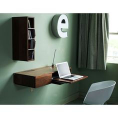 Furinno Brown 3-tier Wall-mount Floating Corner Shelf (Set of 2 ...