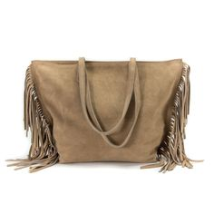 Fringe Suede Leather Tote