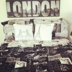 London on pinterest union jack union jack bedroom and london - New york girls room ...