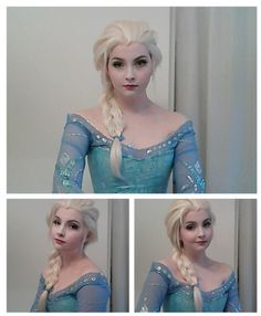 On her blog, she recreated the whole dress, hair and makeup