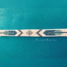 #ailesetmoi #tissage #bracelet #manchette #miyuki #miyukiaddict #jenfilelesperlesetjassume #motifindien #plume #perles