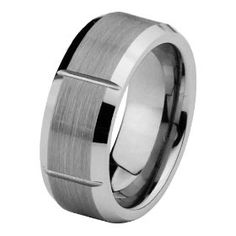 8mm Brushed Cobalt Free Tungsten Carbide Grooved Comfort Fit Wedding Band Ring for Men and Women (Size 5 to 15) - Size 14. http://todaydeals.me/viewdetail.php?asin=B007V71JSC