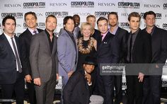 Josh Schwartz, Mehmet Oz, Chris O'Donnell, Ne-Yo, Kate White, Terrell Owens, Stephen Moyer, Kellan Lutz, Ed Westwick, Gerard Butler, Paul Wesley and Nathan Fillion attend Cosmopolitan Magazine's Fun Fearless Males of 2010 at the Mandarin Oriental Hotel on March 1, 2010 in New York City.