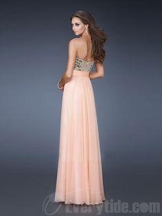 Wholesale Elegant Sweetheart Princess Chiffon Floor-length Prom Dresses  $139.99