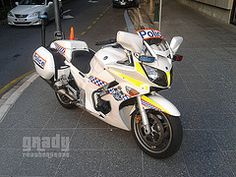 Queensland Police Traffic Division Yamaha Motorcycle by Grady Featherstone Police Cars, Police Vehicles, Ambulance, Law Enforcement, Division, Motorbikes, Yamaha, The Unit, Brisbane