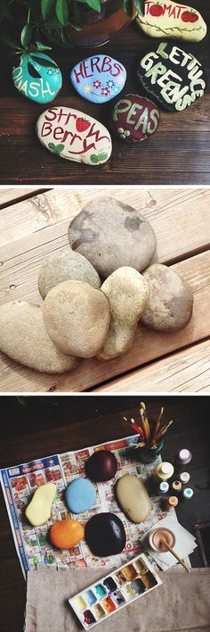 DIY Painted Garden Rocks | Click Pic for 20 DIY Garden Ideas on a Budget | DIY Backyard Ideas on a Budget for Kids