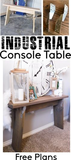 How To - Industrial Console Table Free DIY Woodworking Plans