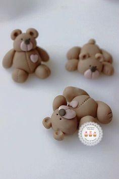 Fondant Teddy Bear Class, Sugar Craft, Cupcake Toppers