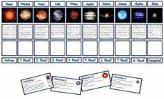 Sachunterricht in der Grundschule: Lesespiel Planeten