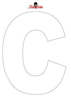 Alphabet Letter Templates, Alphabet Book, Letter Stencils, Letter Patterns, Alphabet And Numbers, Cardboard Letters, Diy Letters, Preschool Sight Words, Felt Name Banner