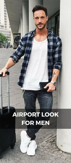 7 Coolest Airport Looks For Guys is part of Stylish mens outfits - Look sharp when you fly Mens Fashion Blog, Best Mens Fashion, Fashion Outfits, Fashion Fashion, Fashion Ideas, Vintage Fashion, Fashion Trends, Fawcett, Airport Look