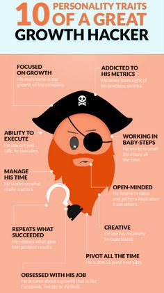 startup infographic & chart 10 Personality Traits of A Great Growth Hacker Infographic Description 10 Personality Traits Of A Great Growth Inbound Marketing, Marketing Digital, Content Marketing, Online Marketing, Social Media Marketing, Internet Marketing, Business Marketing, Business Entrepreneur, Affiliate Marketing