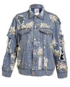 ASHISH | Distressed Sequin Denim Jacket
