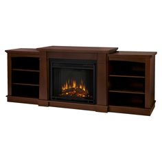 Duraflame 31 5 In W 5200 Btu Cherry Wood And Wood Veneer Infrared Quartz Electric Fireplace With