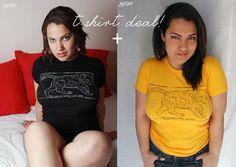 ursa major t shirt combo, yellow t-shirt, black t-shirt, womens yellow tee, t-shirt deal, graphic tee, t-shirt, American apparel S-XXL This is a 2 shirt