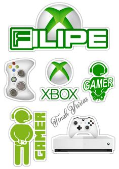 Cake Toppers, Xbox, 1, Character, Adhesive, Boxes, Sports, Games, Paper