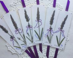 Pressed flower bookmarks book accessories by PatsysPressedFlowers
