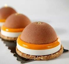 Exotic tart with milk chocolate chocolate,passionfruit mango
