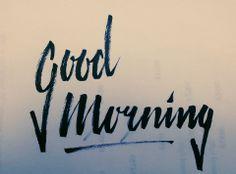 Good Morning by KoenvdB #lettering #handdrawn #calligraphy #brushscript #handlettering