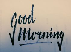 Good Morning by KoenvdB #lettering #handdrawn #calligraphy #brushscript #handlettering