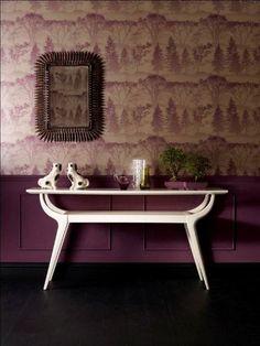 Purple wall paper