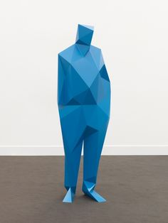 Xavier Veilhan Blue Man, I chose to pin this because I really liked the geometric shapes used to create the man but I'm not sure of the scale of the piece