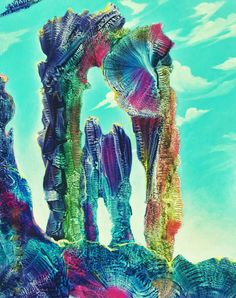Heavenly Arches. Max Ernst inspired Abstract by californiapasha