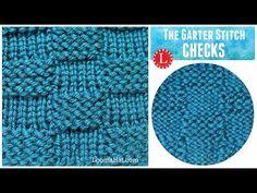 LOOM KNITTING STITCH Garter Stitch Checks version of the Basketweave - YouTube