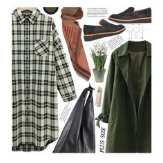 Casual Shirt Dress (plus size) by beebeely-look on Polyvore featuring 10 Crosby Derek Lam, The Row, Real Purity, Burberry, BULB, casual, shirtdress, plussize, plussizefashion and twinkledeals