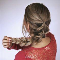 Super simple pull through braid tutorial! Pull Through Braid, Super Simple, Braids, Hair Beauty, Tutorials, Long Hair Styles, Youtube, Instagram, Bang Braids