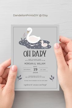 Oh baby!This modern sweet pink and grey theme baby shower invitation is just too beautiful. Edit it yourself and download instantly. Includes smartphone invite too! #babyshower #greyandpink #modernbaby #babyshowerinvite #invitations Baby Shower Printables, Party Printables, Baby Shower Themes, Baby Sprinkle Invitations, Baby Shower Invitations, Mail Gifts, Pink Themes, Diy Baby, Pink Grey