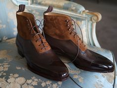 Saint Crispin's model 402 - boot with calf and kudu leather on classic last - MTO for Sidney, picture by Karl Sussmann