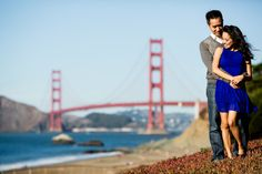 San Francisco Engagement Session at Sutro Baths and Baker Beach