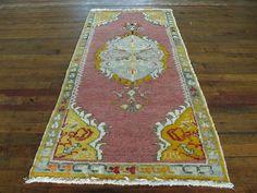 "Huntt Rugs  http://www.hunttrugs.com/vintage-turkish-rugs/vintage-turkish-rug-25x52  Vintage Turkish Rug 2'5""x5'2"" #vintagerug #persianrug #antiquerug #distressedrug #homedecor #interiordesign #decor #hunttrugs"