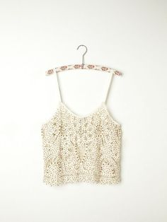 Free People | cropped white crochet top