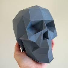 Resultado de imagen de skull low poly
