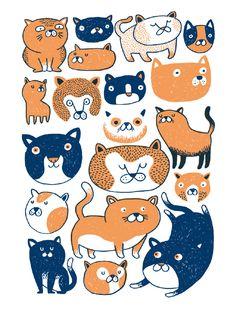 Gats. www.miguel-bustos.com cats