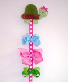 Hairbow holder- I made one of these for each of my girls for less than 3 dollars.