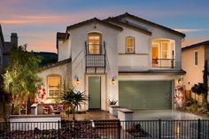 Mirasol Plan 3X Front Exterior William Lyon Homes #new #homes #carlsbad