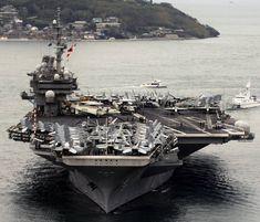 cva uss kitty hawk aircraft carrier us navy air group wing yokosuka fleact japan Us Navy Aircraft, Navy Aircraft Carrier, Navy Careers, Navy Air Force, Us Navy Ships, Kitty Hawk, Submarines, Battleship, Sailing