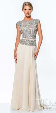 Crystal Encrusted Evening Gown by Terani Couture #edressme