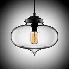modern hand blown glass lighting