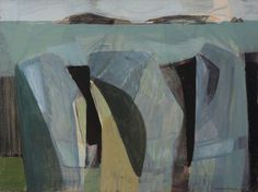 'Three Rock Forms' by Wilhelmina Barns-Graham Art And Illustration, Illustrations, Abstract Drawings, Abstract Art, Abstract Expressionism, Abstract Landscape, Landscape Paintings, Modern Art, Contemporary Art