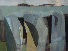 'Three Rock Forms' by Wilhelmina Barns-Graham Art And Illustration, Illustrations, Abstract Drawings, Abstract Art, Abstract Landscape, Landscape Paintings, Modern Art, Contemporary Art, Art Bin