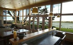 contemporary wood house in Oregon Coast by Johnston Architects