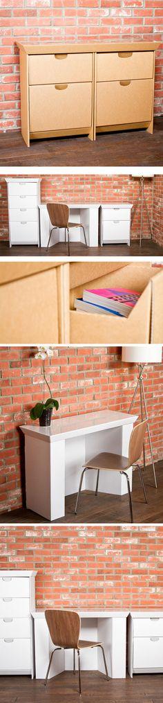 A empresa SmartDeco Furniture criou uma série de móveis feitos de papelão reforçado para pessoas que tem pouco dinheiro mas muito bom gosto.    ...
