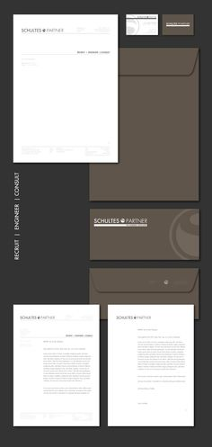 The goal was to change the existing design without changing the style to much to not irritate the viewers eyes.The new concept turned out to be based on a main identity and three subcategories for the three service areas of Schultes & Partner - Recruit … Print Design, Logo Design, Graphic Design, Brand Identity, Branding, Letterpress Printing, Partner, Stationary, Graphics