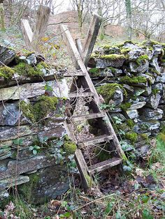 Stone Wall Fence With Stile Country Life, Country Living, Stone Fence, Dry Stone, Fence Gate, Fencing, Paludarium, Exterior, Garden Gates